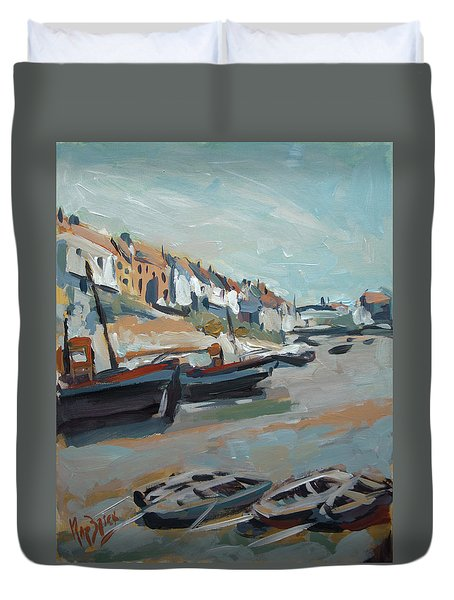 The Harbour Of Mevagissey Duvet Cover