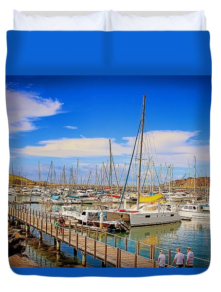 The Harbour Duvet Cover by Wallaroo Images