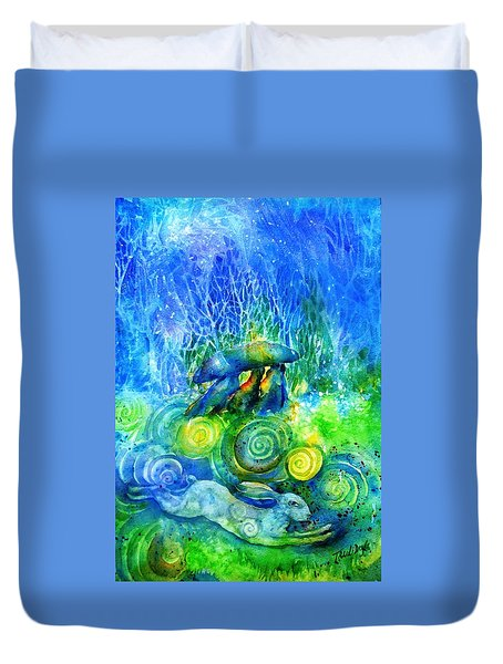 The Hare Remembers  Duvet Cover by Trudi Doyle