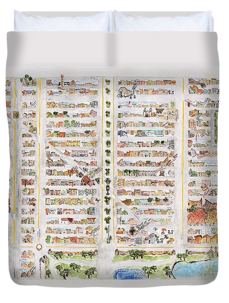 The Harlem Map Duvet Cover