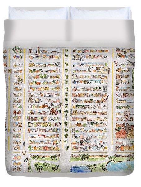 The Harlem Map Duvet Cover by AFineLyne