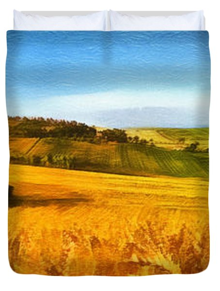 The Harvest Is Plentiful Duvet Cover by Dale Jackson