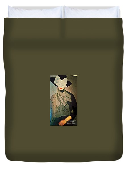 The Hat Duvet Cover by Alexis Rotella