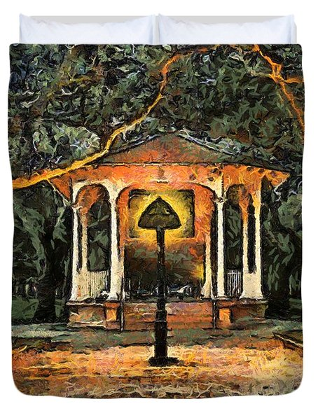 The Haunted Gazebo Duvet Cover