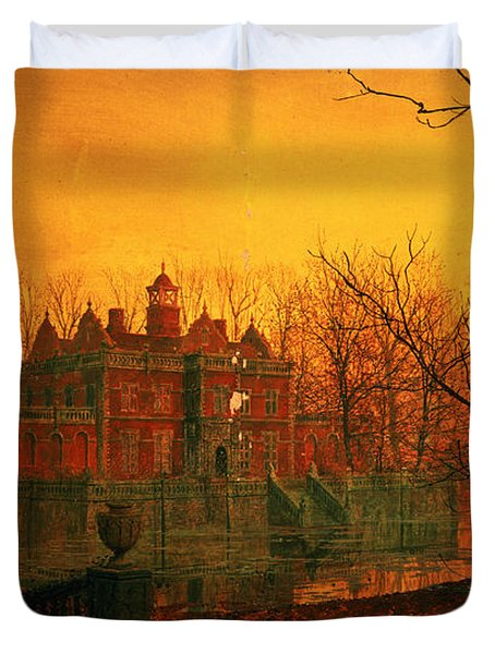The Haunted House Duvet Cover by John Atkinson Grimshaw