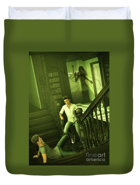 The Haunted Manor Duvet Cover