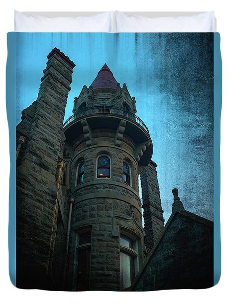 The Haunted Tower Duvet Cover by Keith Boone