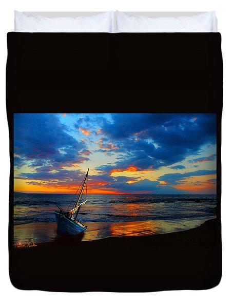 The Hawaiian Sailboat Duvet Cover by Michael Rucker