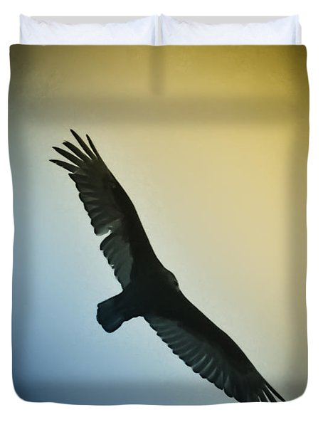 The Hawk Duvet Cover by Bill Cannon