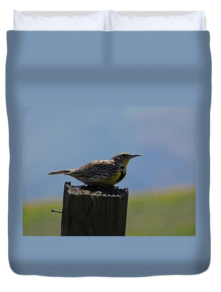 The Hawk Squat Duvet Cover