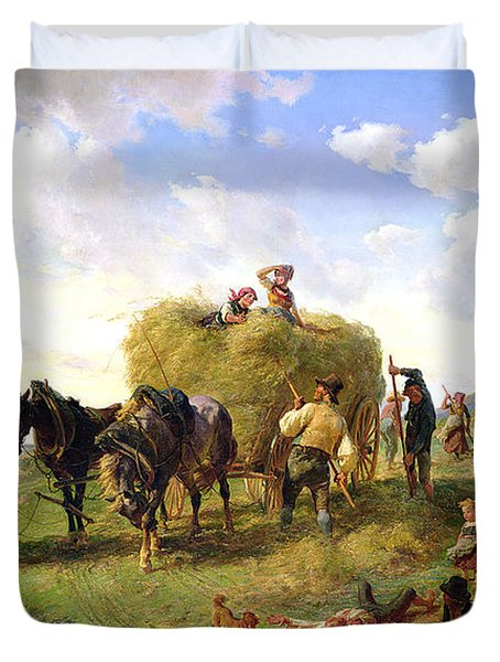 The Hay Harvest Duvet Cover by Hermann Kauffmann