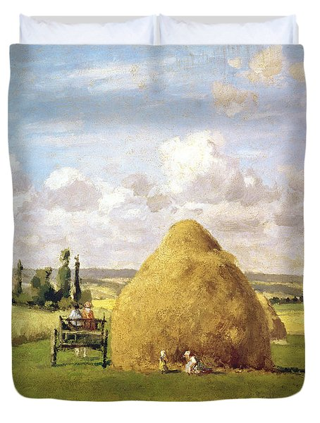 The Haystack Duvet Cover by Camille Pissarro