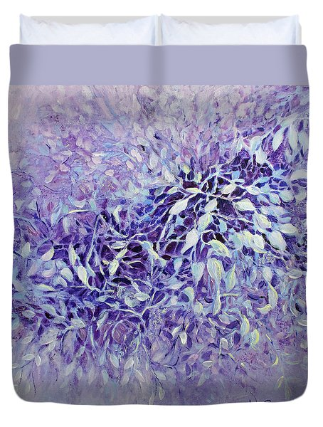 Duvet Cover featuring the painting The Healing Power Of Amethyst by Joanne Smoley