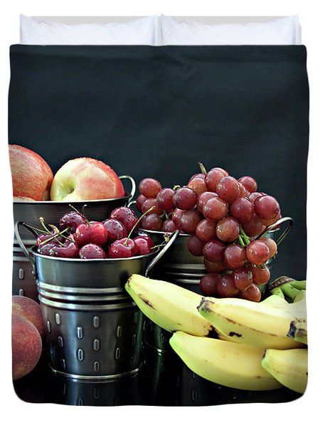 Duvet Cover featuring the photograph The Healthy Choice Selection by Sherry Hallemeier
