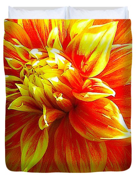 The Heart Of A Dahlia #2 Duvet Cover