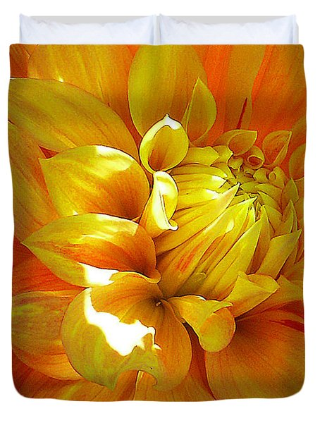 The Heart Of A Dahlia Duvet Cover