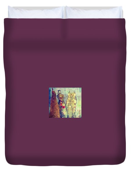 The Heart Of A Woman Duvet Cover