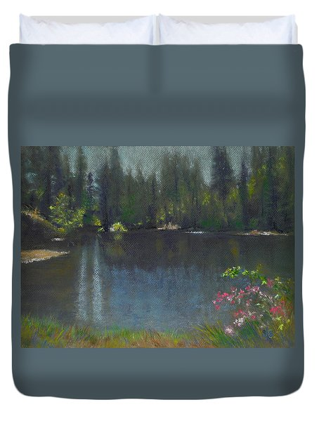 The Heart Of California Duvet Cover