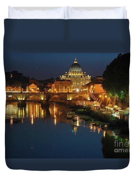 Eternal Sound Of Rome Duvet Cover