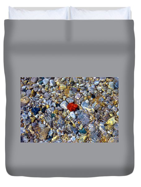 The Heart Of Lake Michigan Duvet Cover