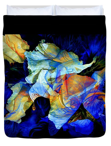Duvet Cover featuring the painting The Heart Of My Garden by Hanne Lore Koehler