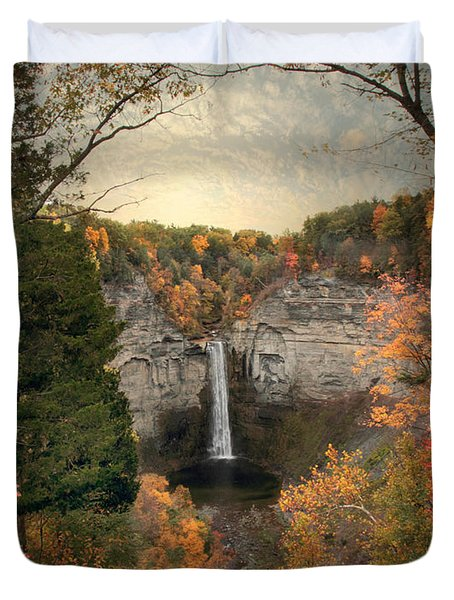 The Heart Of Taughannock Duvet Cover