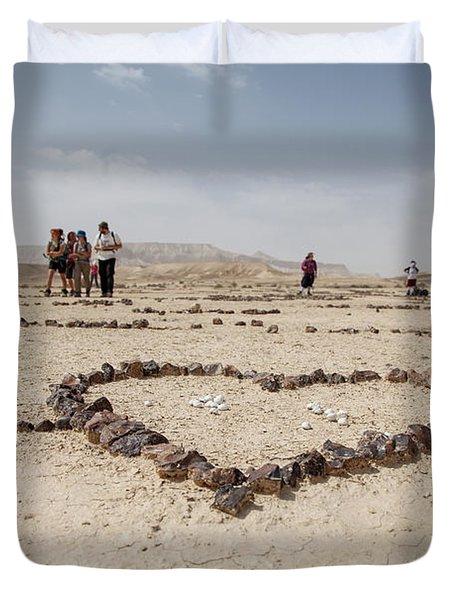 The Heart Of The Desert Duvet Cover