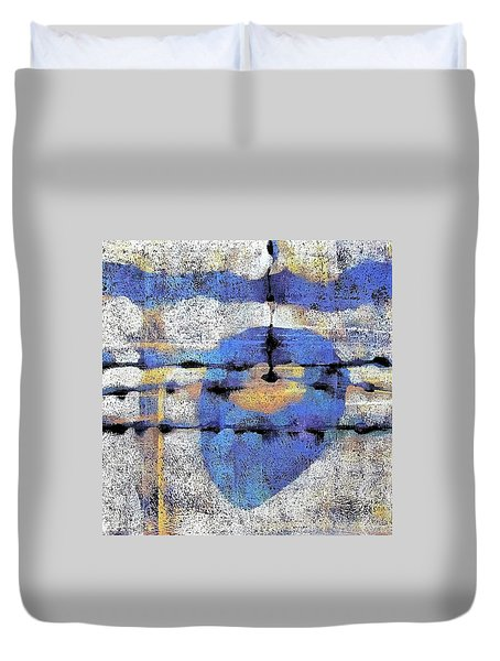 The Heart Of The Matter Duvet Cover by Maria Huntley