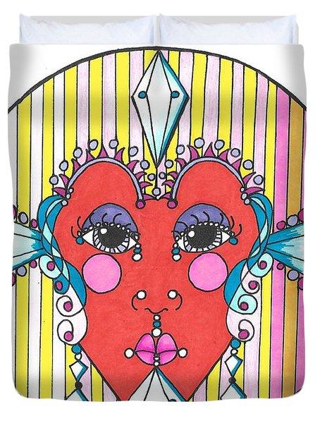 The Heart Queen Duvet Cover