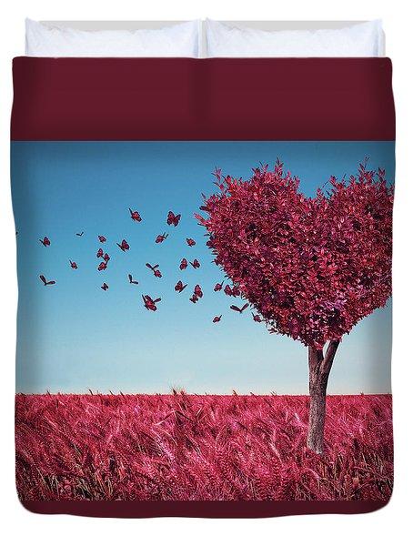 The Heart Tree Duvet Cover