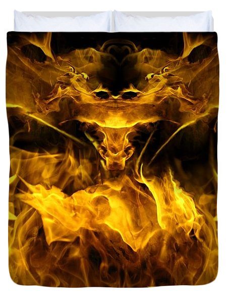 The Heat Of Passion Duvet Cover by Bill Stephens