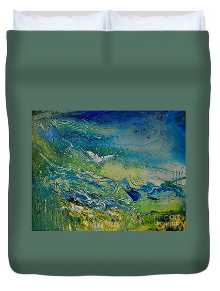 The Heavens And The Eart Duvet Cover
