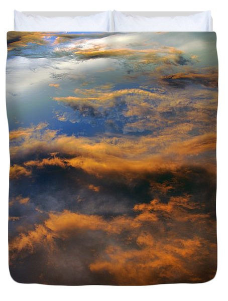 The Heavens Declare #2 Duvet Cover by Lydia Holly