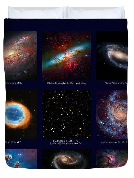 The Heavens - Images From The Hubble Space Telescope Duvet Cover
