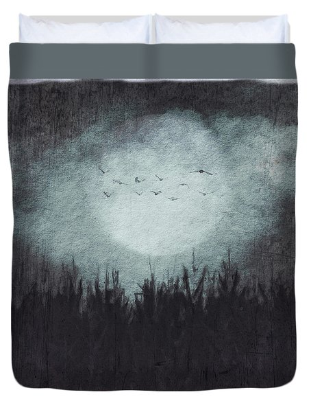 The Heavy Moon Duvet Cover