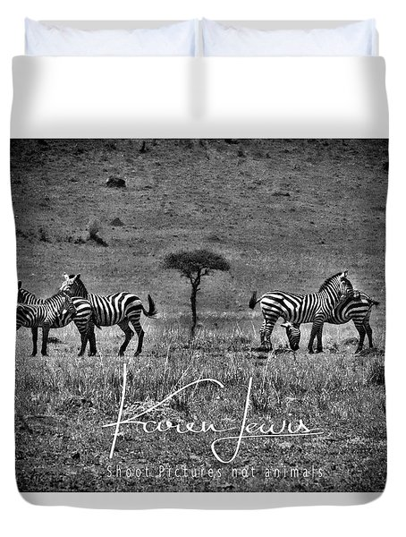 Duvet Cover featuring the photograph The Herd by Karen Lewis