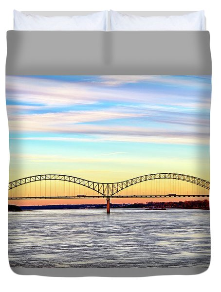 The Hernando De Soto Bridge Duvet Cover