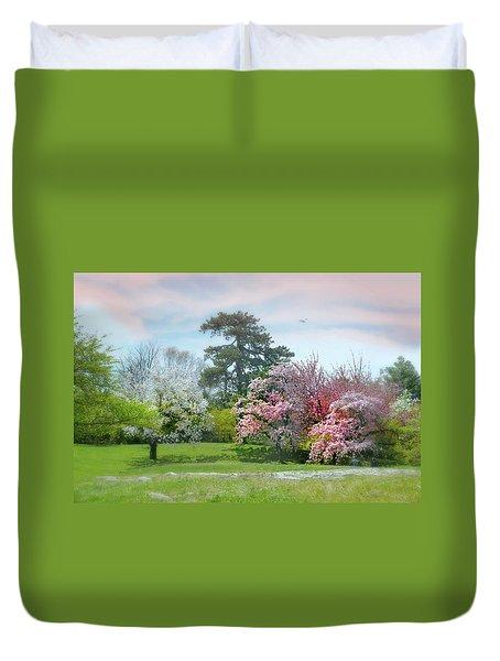 Duvet Cover featuring the photograph The Hidden Garden by Diana Angstadt