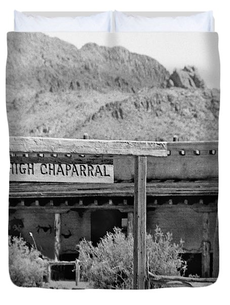 The High Chaparral Set With Sign Old Tucson Arizona 1969-2016 Duvet Cover
