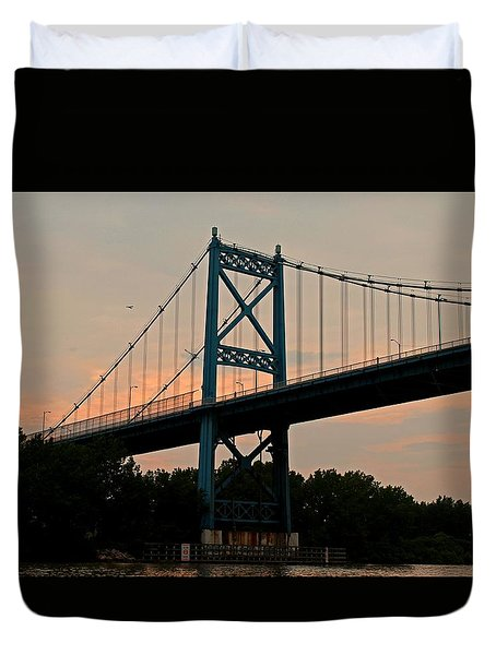 The High Level Aka Anthony Wayne Bridge I Duvet Cover