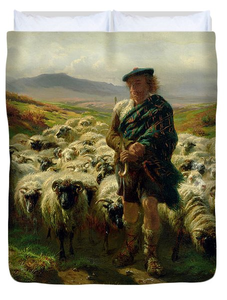 The Highland Shepherd Duvet Cover