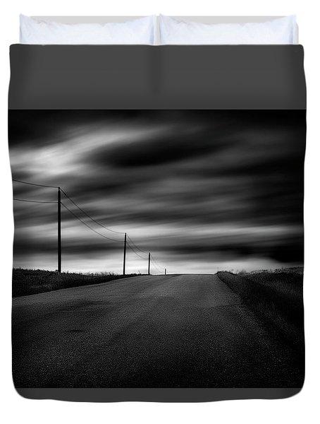 The Highway Duvet Cover by Dan Jurak