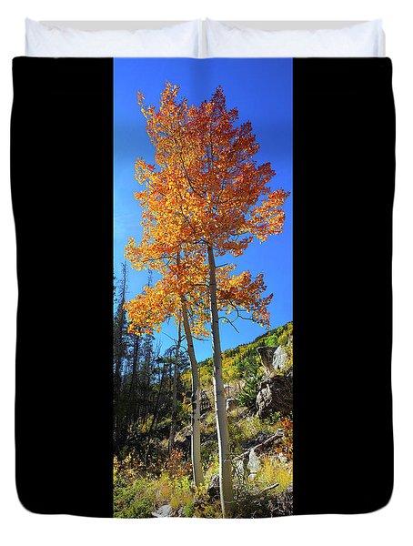 Duvet Cover featuring the photograph The Hillside - Panorama by Shane Bechler