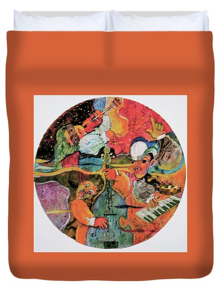 The Holland Jazz Trio Duvet Cover