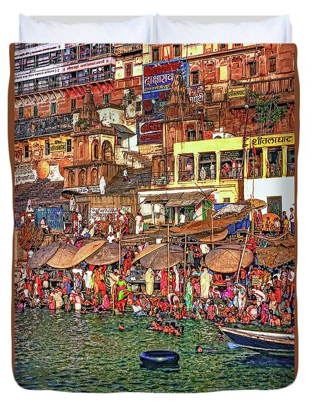 The Holy Ganges Duvet Cover by Steve Harrington