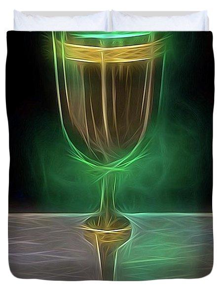 The Holy Grail By Raphael Terra Duvet Cover
