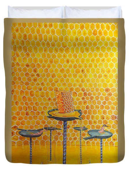 The Honey Of Lives Duvet Cover by Lazaro Hurtado