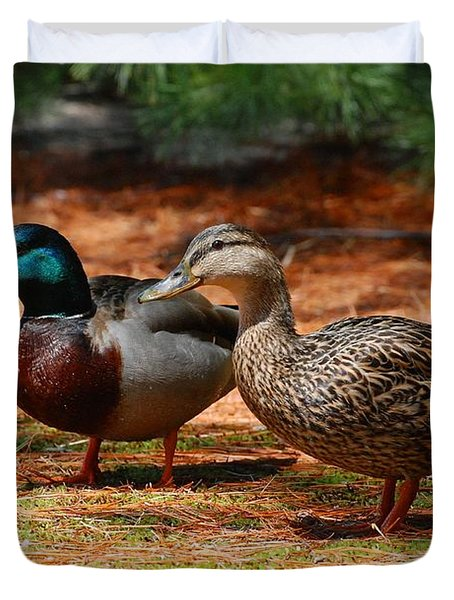 The Honeymooners - Mallard Ducks  Duvet Cover