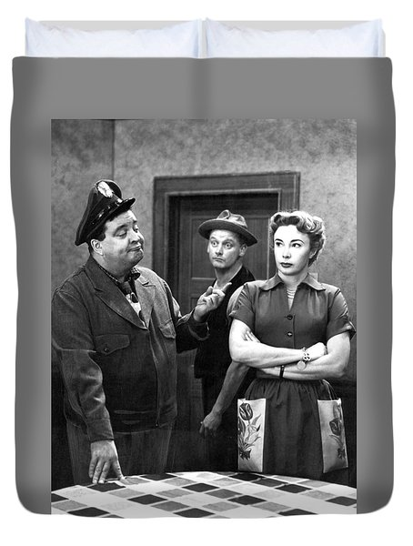 The Honeymooners 1950s Duvet Cover