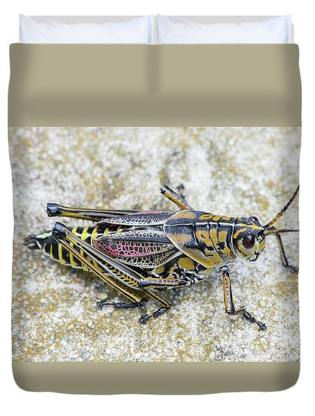 The Hopper Grasshopper Art Duvet Cover